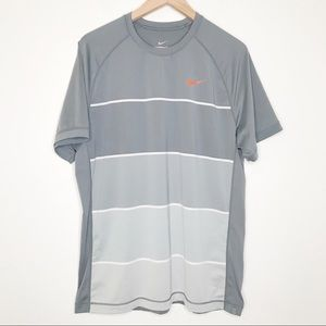 Nike Court Gray tennis short sleeve shirt L